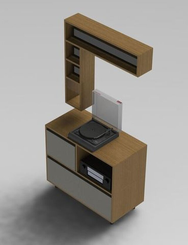 Vinyl and CD storage furniture