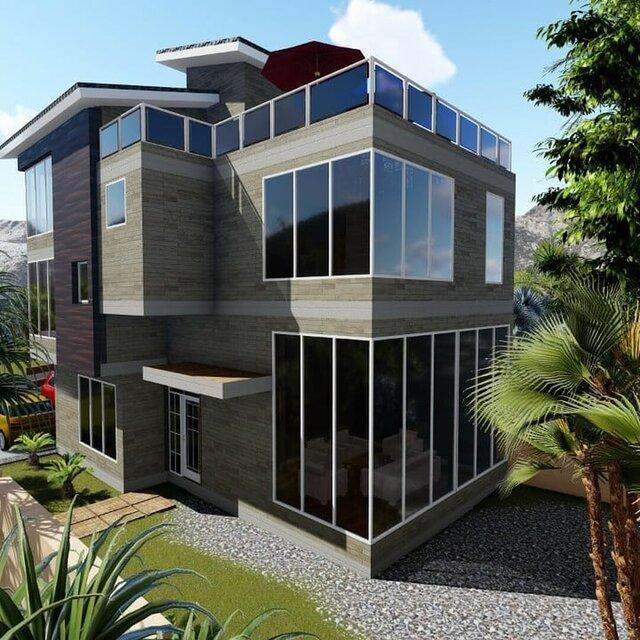 5 bedroom home design.