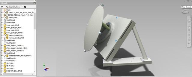 SPT 3G VLBI Secondary Mirror Mount