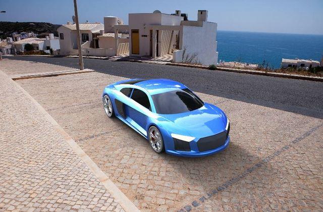 Audi R8 design and rendering