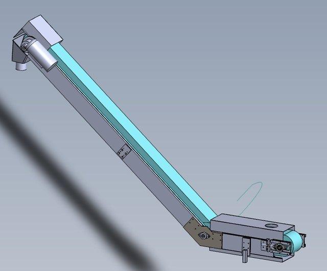 L shape belt conveyor