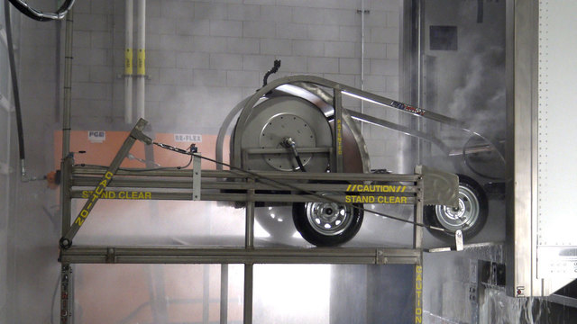 automated interior truck wash system