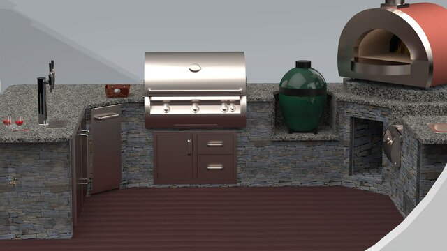 $40K Outdoor Kitchen with FireMagic Appliances