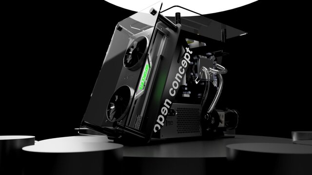 Open Concept GPU Mini Itx Case