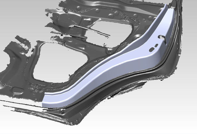 Fiberglass bracket for rear door