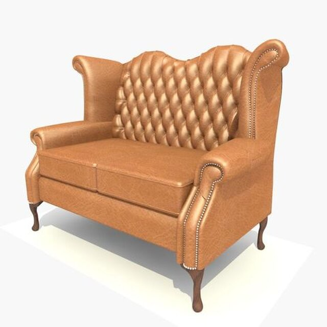 2 Seater Schroll Chair