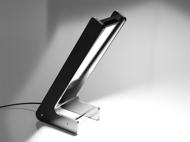 Modern Carbon Fiber Flat-Pack Lamp