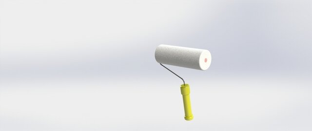 Paint roller using SOLIDWORKS