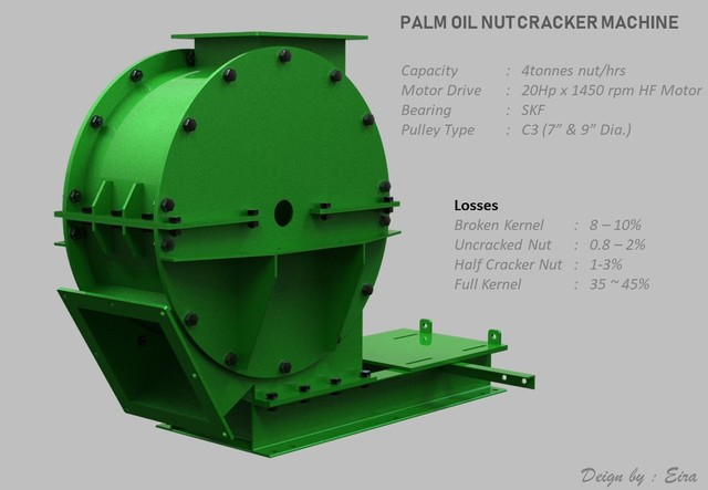 Palm Oil Nut Cracker Machine