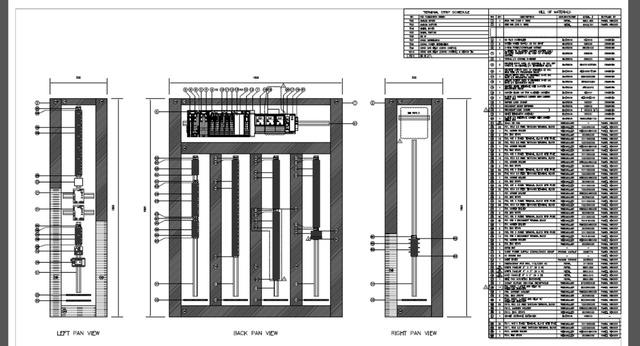 Panel Layout & Wiring Schematics