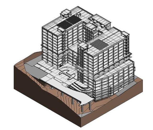 Hospital 3D Structure ONLY Revit Model and 4D Navisworks Simulation (2017)