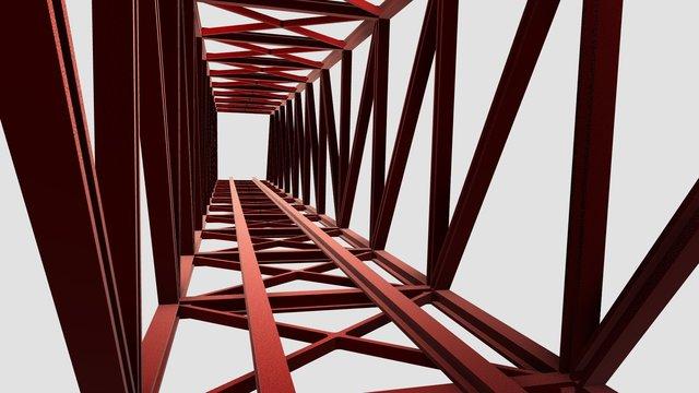 Steel Bridge Design with Load Analysis