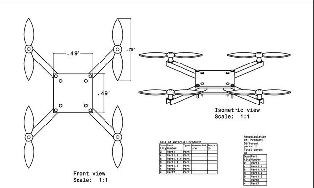 Surveillance Quadcopter Design.