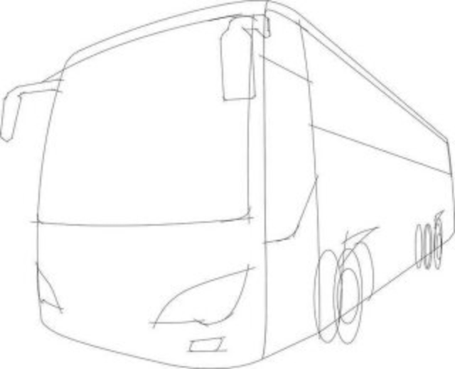 3D Sketch bus model for prototype