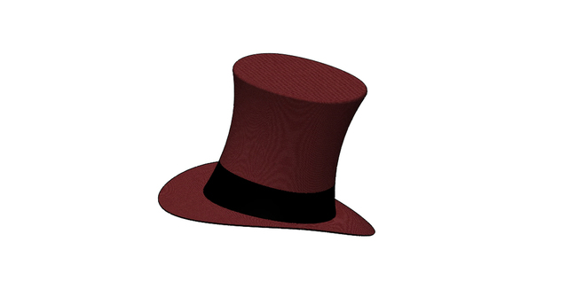 magician hat - solidworks