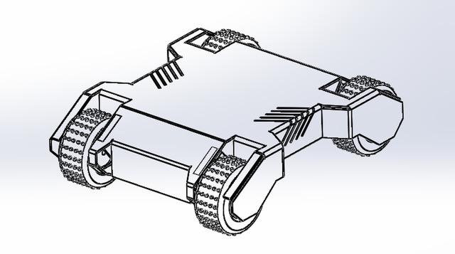 4WD Multi-purpose Heavy duty wheeled robot