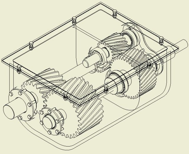 Counter Rotating Gearbox Assembly