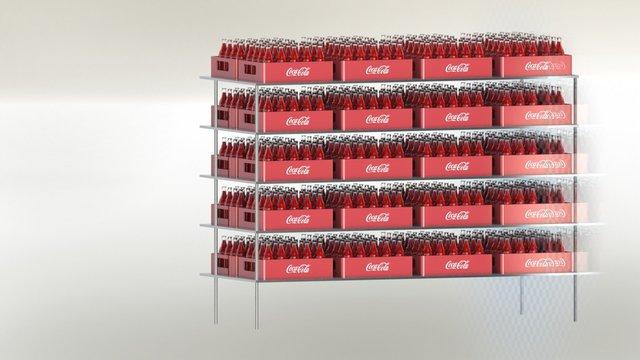 coca cola bottle rack