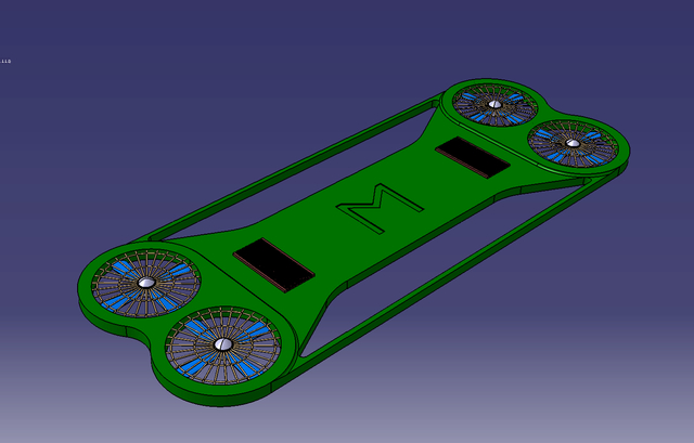 Flying hover board concept