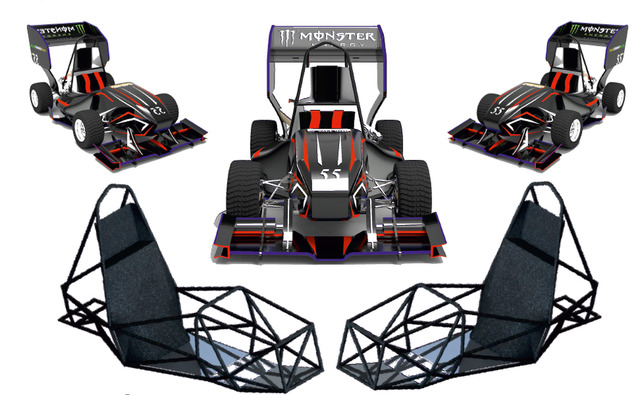 Formula Student Complete vehicle Rendered view