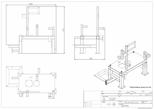 Hydraulic Table structure