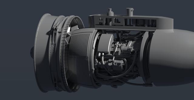 TF34-GE Jet Engine