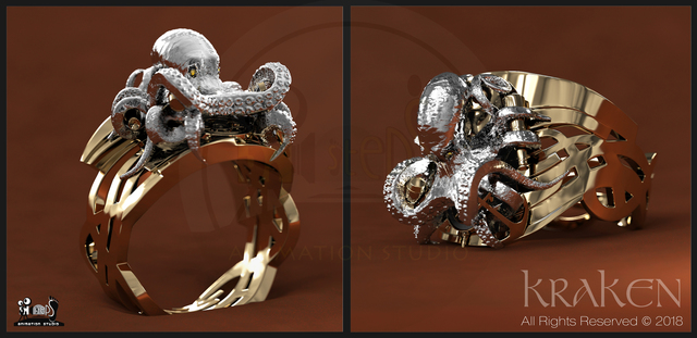 "My New Ring 3D Visual Render ""Kraken"""