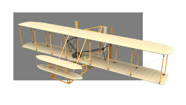 3D model of the Flier made by the Wright brothers