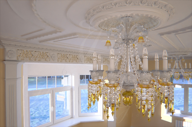 Decorative plaster work.  Complete projects.
