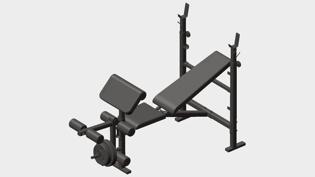 YHBC-1100 Household weightlifting bed