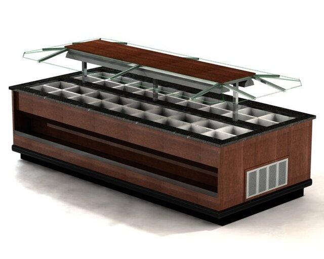 Specialty Fabricators Salad Bar Design for Fresh Market
