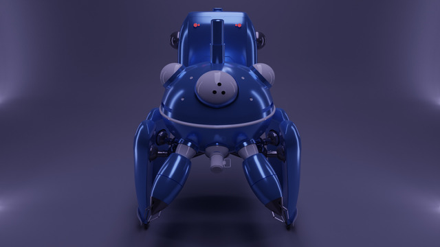 3D model of a Tachikoma robot (from Ghost in the Shell: Stand Alone Complex)