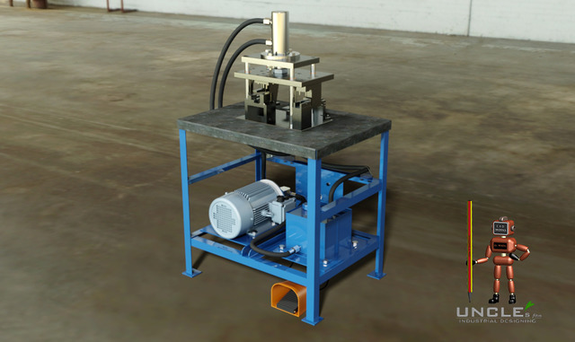 Punch press machine for WICONA aluminum frame profile