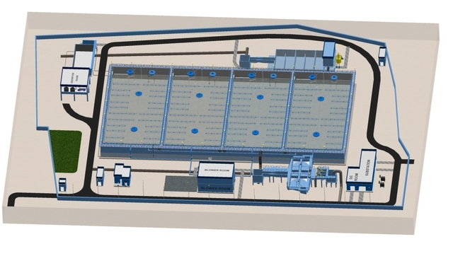 Sewage Water Treatment Plant - 3D