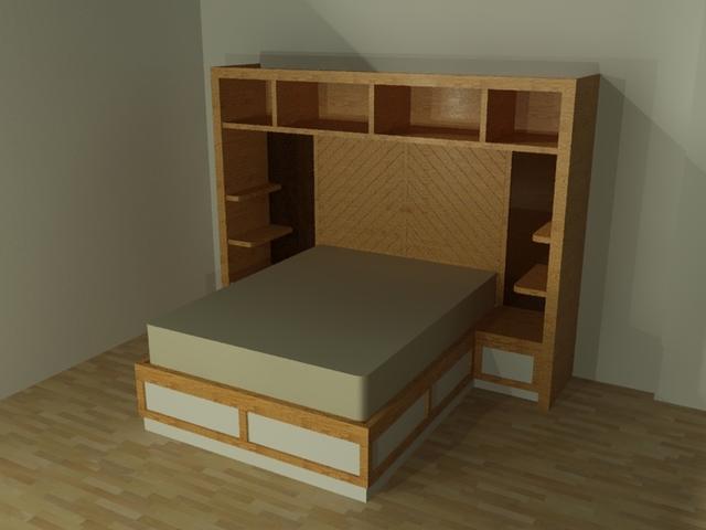 Custom Queen Sized Bed