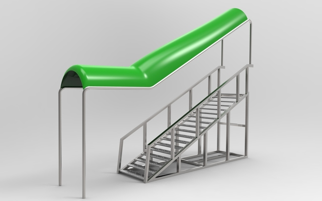 Outside Stairs With Top Cover Design
