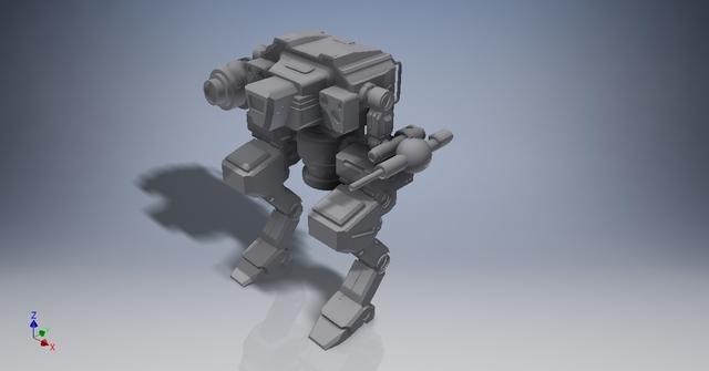 3D model Mech, Ready for 3D print