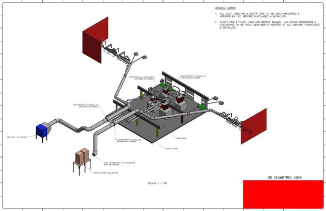 Industrial Ventilation Design to Collect Respirable Silica Dust