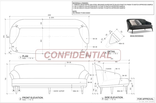 Shop Drawings for Loose Furniture