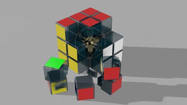 Clear Glazed Glass Rubik's-cube
