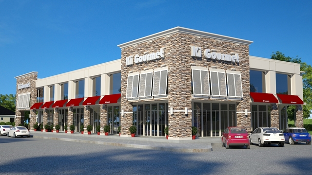 3d visualizations for a commercial retail building
