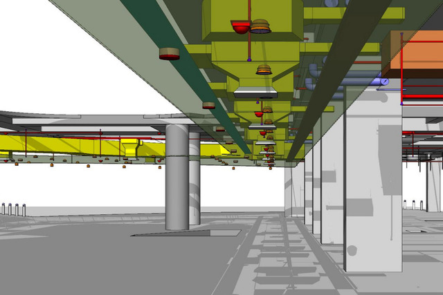 BIM Project & Clash Detection with services