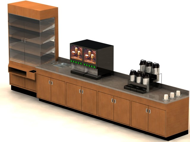 Coffee Counter design concept for Specialty Fabricators