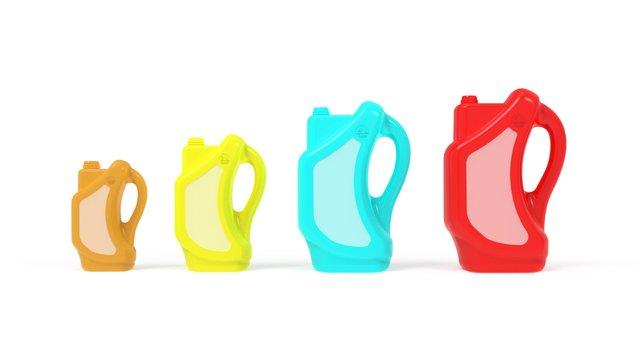 Automobile Engine Oil Bottle Design