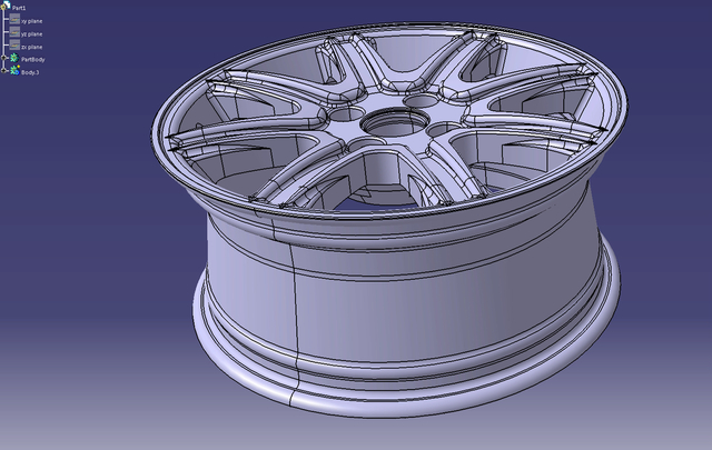 Alloy Wheel Design and Modeling