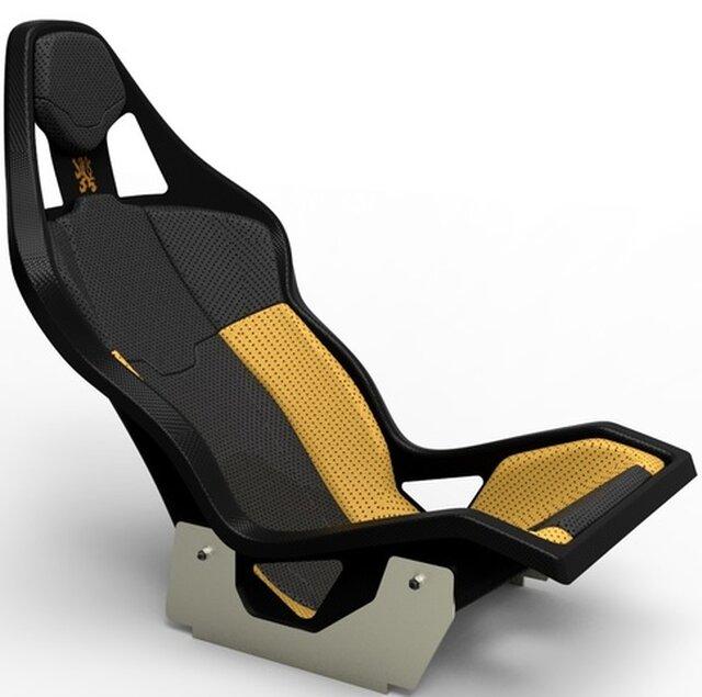 R4S Carbon Fiber Bucket Seat