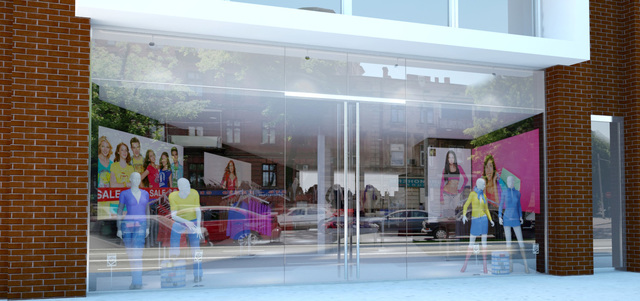 Shop window rendering