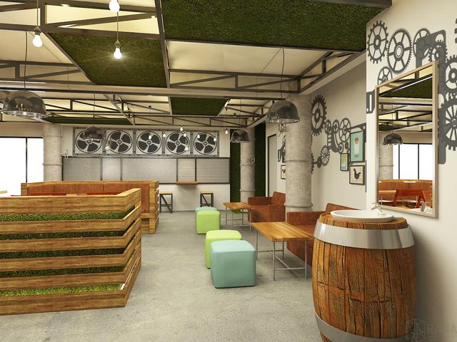 Cafe Momomilk - 3d rendering