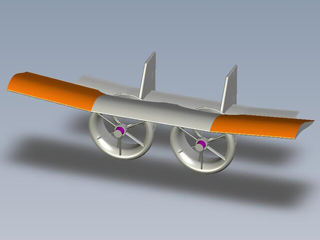 Composite electric UAV aircraft project