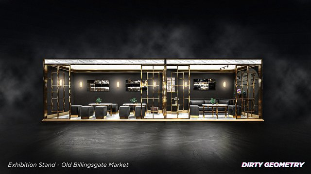 Exhibition Stand model and render